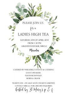 Ladies High Tea @ MRCLC Grandstand Bar Merredin